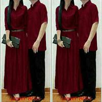 Baju Couple Terbaru / Copel Denim HQ Cp Kizzy Marun
