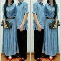 Baju Couple Terbaru / Copel Denim HQ Cp Kizzy Biru Muda