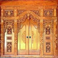pintu rumah kusen ukir gebyok kayu jati