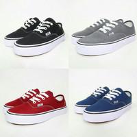Sepatu Vans Authentic - Hitam, Abu, Maroon, Navy - Hitam, 36