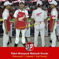 Wearpack / Baju Mekanik Bengkel Resmi Honda ( hanya baju dan celana)