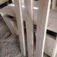 papan/ balok kayu jati belanda,P 100cm L 9Cm X3 Cm