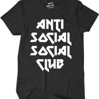 Kaos ASSC Tshirt ANTI SOCIAL SOCIAL CLUB Logo Mirror Quality 1:1