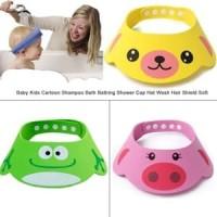 Bergambar Lucu Topi Keramas Anak Bayi Shower Cap Dengan Kancing