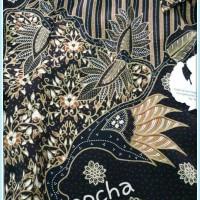 BAJU XL Kemeja Batik Semi Sutra Lengan Panjang Pria Modern
