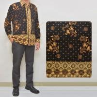 BAJU BATIK MURAH 011 Kemeja Batik Semi Sutra Lengan Panjang Pria