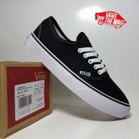 sepatu casual vans authentic black white premium BNIB / sneakers hitam