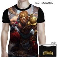 Kaos League of Legends LOL 3D WUKONG Baju Remaja Cewek Cowok Kekinian