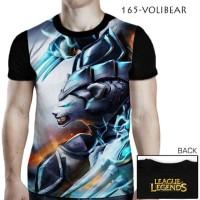 Kaos League of Legends LOL 3D VOLIBEAR Baju Remaja Cewek Cowok
