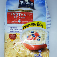 Quaker malaysia Instant Oatmeal sereal oat meal 800gr high fibre