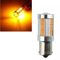 LAMPU BAYONET SEIN SEN 1156 P21Y 33 LED ORANGE