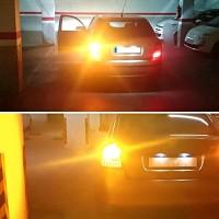LAMPU SEIN BAYONET 1156 ORANGE YELLOW AMBER KUNING 24 WATT 24 LED