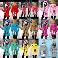 Jaket wanita fashion Teddy bear jaket funny cewek jaket panda kerinci