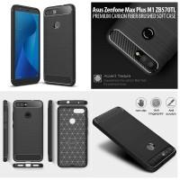 Asus Zenfone Max Plus M1 ZB570TL - Carbon Fiber Brushed Soft Case