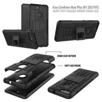 Asus Zenfone Max Plus M1 ZB570TL - Heavy Duty Rugged Armor Stand Case