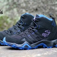 SEPATU SNEAKERS PRIA ADIDAS AX2 HIGH BLACK BLUE