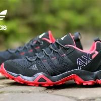SEPATU SNEAKERS PRIA ADIDAS AX2 LOW BLACK RED