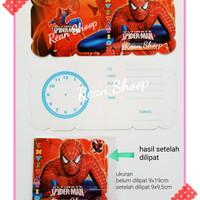 Kartu undangan ulang tahun happy birthday ultah karakter spiderman