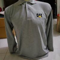 Kaos Polo Shirt Caterpillar Lengan Panjang