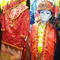 Pakaian adat anak baju palembang Lk - Pr