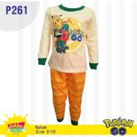 Setelan piyama baju tidur anak laki laki Pokemon (P261)