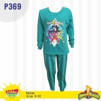 Setelan baju tidur anak laki laki Power Rangers (P369)