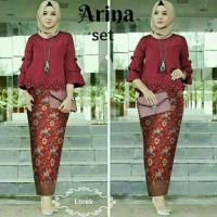 aop setelan st arina songket MAROON / baju wanita dress batik blouse