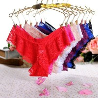 Wanita Celana Dalam Sexy Lace thong CD Lingerie Bikini C028 - Putih