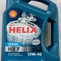 SHELL HELIX HX7 DIESEL SAE 10W 40 OLI MESIN DIESEL GALON 5 Liter