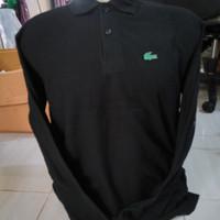 Kaos Polo Shirt Lacoste Crocodile Lengan Panjang