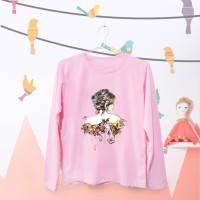 Tumblr Tee / T-Shirt / Kaos Wanita Lengan Panjang Body Girl Warna Pink