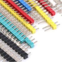 Pin Header 2.54mm color Male 40 Pin Single Row Strip Warna Connector