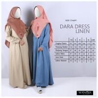 DARA Linen Wanoja Hijab Gamis Syari Baju Hamil Menyusui Muslimah