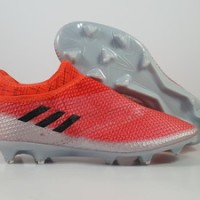 Sepatu Bola Adidas Messi 16  Pureagility Red Silver FG Replika Impor