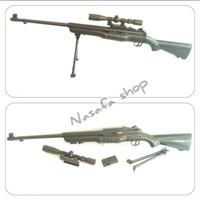 Mainan sniper Johnson 1941 m801 dcobra-barret-magnum awp l96-svd dragu