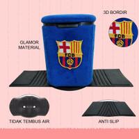 Tempat sampah mobil /tempat sampah mini motif Barcelona