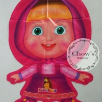 (Diskon) Balon Foil Karakter Marsha and The Bear Pink