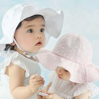 Topi bayi/topi anak/topi noni/topi bonnet/kupluk bayi/topi pantai