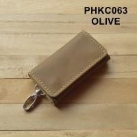 dompet stnk mobil motor kulit lipat tiga - warna hijau olive PHKC063