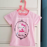 Baju / Kaos Anak Perempuan 1 - 2 Tahun (XL) Hello Kitty Import