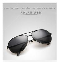 Kacamata Polarized Aviator Black - tanpa minus