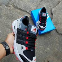 Sepatu sport pria adidas ax2 grey black red