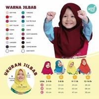 Jilbab Afra Kids size M