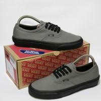 Vans Authentic Grey Sole Black Premium BNIB (Free tas sepatu)