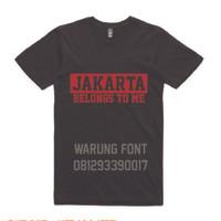 T1100 Kaos Tshirt Baju Combed 30S Distro Persija Jakarta Belongs To