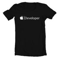 T1039 Kaos Tshirt Baju Combed 30S Distro Apple Developer Iphone