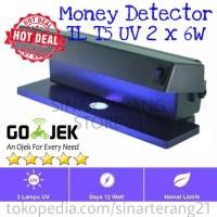 Lampu Detektor Uang Palsu UV Ungu 2x6W / Money Detector / Alat Deteksi