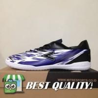 VinzoSport Sepatu Futsal Mitre Flare IN Black Blue White T01040013 Or
