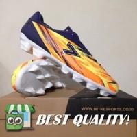 VinzoSport Sepatu Bola Mitre Flare FG Navy Hex Orange T01010014 Orig
