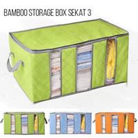 Bamboo Storage Box 65 Liters bambo charcoal clothing boxes tempat baju